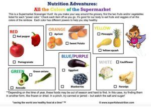 All the Colors of the Supermarket kids activity superkids nutrition