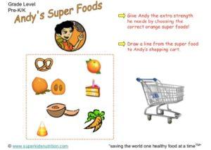 super foods kids activity superkids nutrition
