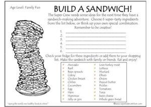 Build A Sandwich Feature kids activity superkids nutrition