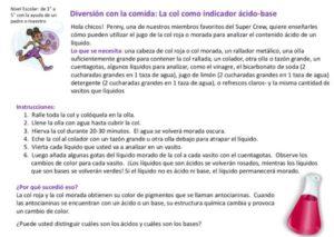 Cabbage Acid Base Indicator (Spanish) kids activity superkids nutrition