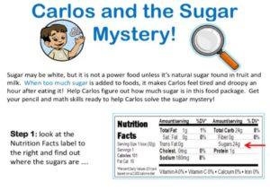sugar label kids activity superkids nutrition