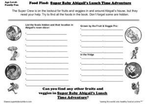 Food Find_ Super Baby Abigail's Lunch Time Adventure Feature kids activity superkids nutrition