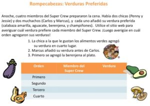 Food Log Puzzle (Spanish) kids activities superkids nutrition