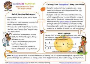 halloween kids activity superkids nutrition