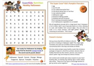 Healthy Halloween with Andy kids activity superkids nutrition