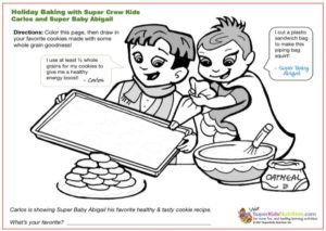 Healthy Holiday Baking kids activity superkids nutrition