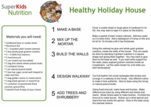 Healthy Holiday House kids activity superkids nutrition