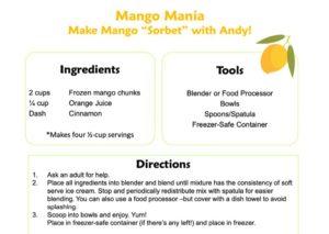 Mango Mania activity sheet