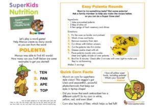 Marcus Polenta Rounds kids activity recipe superkids nutrition