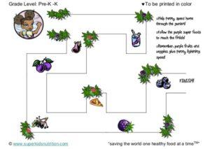 penny's maze kids activity superkids nutrition