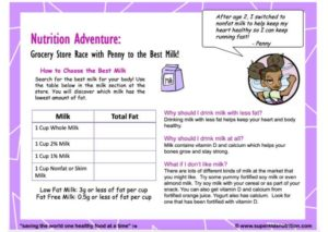 Race to the Best Milk kids activity superkids nutrition