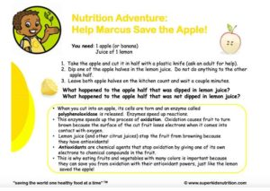 Save the Apple kids activity superkids nutrition