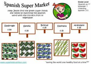 Spanish Super Market (Spanish) kids activity superkids nutrition