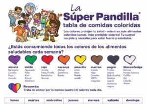 Super Crew Colorful Food Tracker (Spanish)