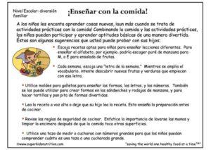 Teaching With Food (Spanish)
