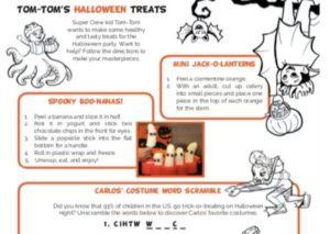 Tom-Tom's Halloween Treats kids activity superkids nutrition