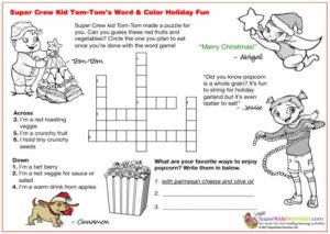 Tom Tom Holiday Word Fun kids activity superkids nutrition