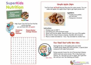 Tom-Tom's Simple Apple Chips kids activity superkids nutrition