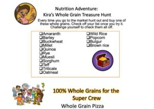 Whole Grain Treasure Hunt kids activity superkids nutrition
