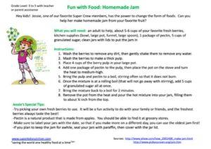 homemade jam kids recipe activity superkids nutrition