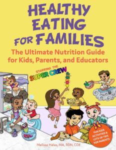 Healthy Eating for families book cover melissa halas