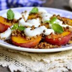 baked nectarines with whipped ricotta