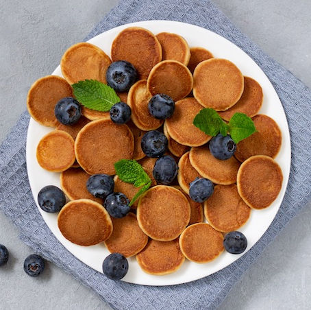 Mini whole wheat pancakes for a baby or 1 year old meal plan