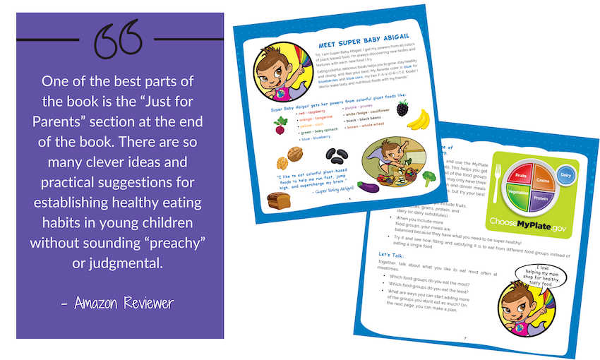 Book on healthy eating for young children