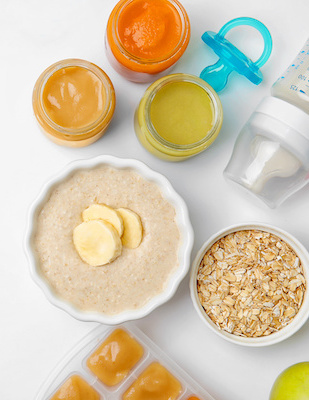baby meal plan oatmeal and baby food